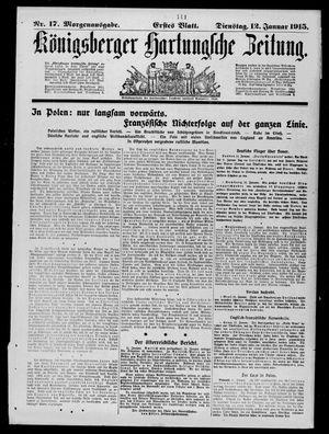 Königsberger Hartungsche Zeitung vom 12.01.1915