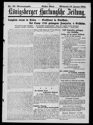 Königsberger Hartungsche Zeitung on Jan 13, 1915