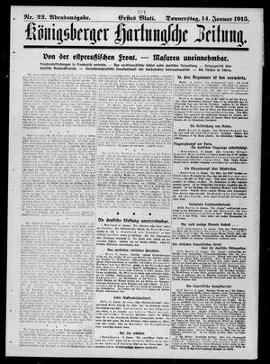 Königsberger Hartungsche Zeitung vom 14.01.1915