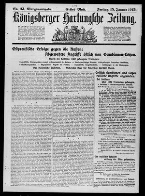 Königsberger Hartungsche Zeitung vom 15.01.1915