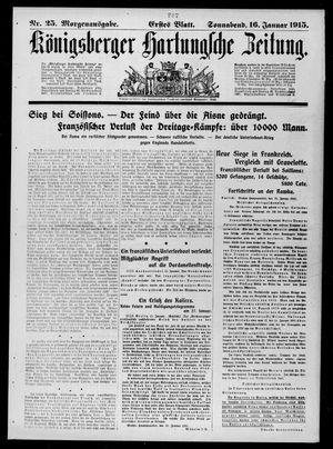 Königsberger Hartungsche Zeitung on Jan 16, 1915