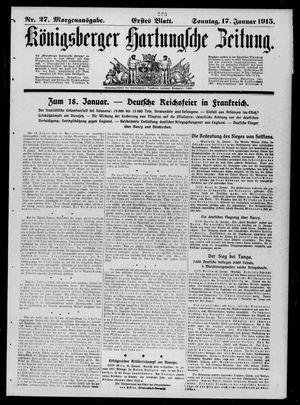 Königsberger Hartungsche Zeitung vom 17.01.1915