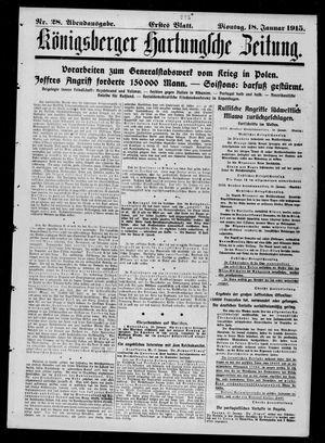 Königsberger Hartungsche Zeitung vom 18.01.1915