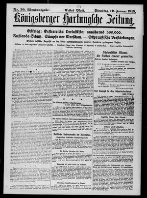Königsberger Hartungsche Zeitung on Jan 19, 1915