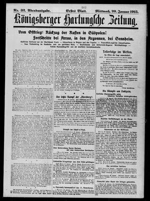 Königsberger Hartungsche Zeitung vom 20.01.1915