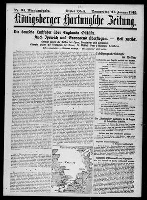 Königsberger Hartungsche Zeitung vom 21.01.1915