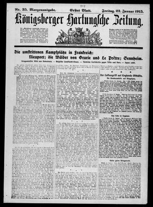 Königsberger Hartungsche Zeitung vom 22.01.1915