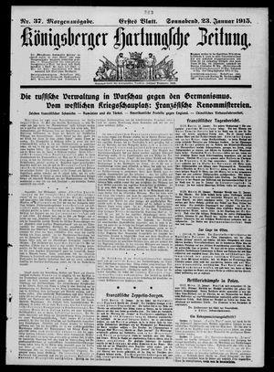 Königsberger Hartungsche Zeitung on Jan 23, 1915