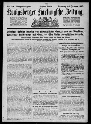 Königsberger Hartungsche Zeitung vom 24.01.1915