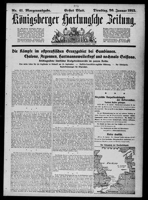Königsberger Hartungsche Zeitung vom 26.01.1915