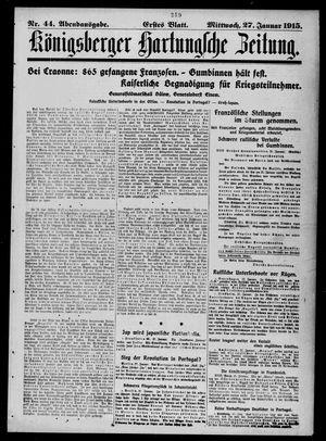 Königsberger Hartungsche Zeitung vom 27.01.1915