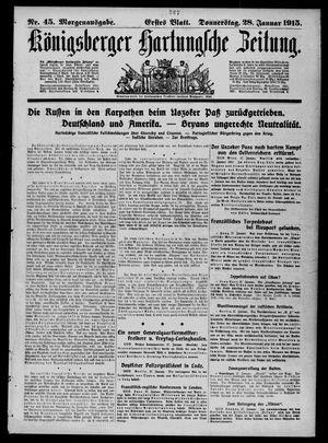 Königsberger Hartungsche Zeitung vom 28.01.1915