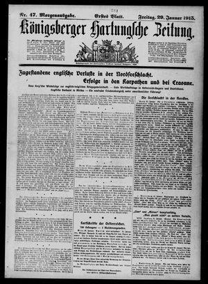 Königsberger Hartungsche Zeitung vom 29.01.1915
