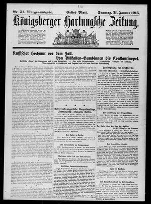 Königsberger Hartungsche Zeitung vom 31.01.1915