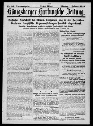 Königsberger Hartungsche Zeitung vom 01.02.1915
