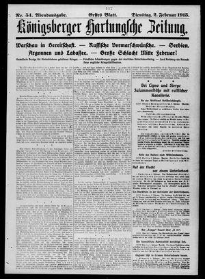 Königsberger Hartungsche Zeitung vom 02.02.1915