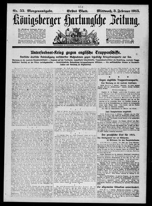 Königsberger Hartungsche Zeitung vom 03.02.1915