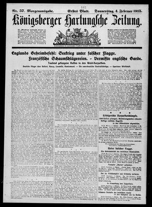 Königsberger Hartungsche Zeitung vom 04.02.1915