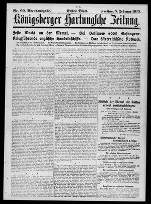 Königsberger Hartungsche Zeitung vom 05.02.1915