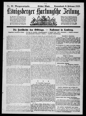 Königsberger Hartungsche Zeitung vom 06.02.1915