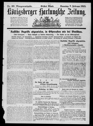 Königsberger Hartungsche Zeitung vom 07.02.1915