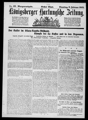Königsberger Hartungsche Zeitung vom 09.02.1915