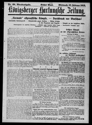 Königsberger Hartungsche Zeitung vom 10.02.1915