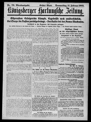 Königsberger Hartungsche Zeitung vom 11.02.1915