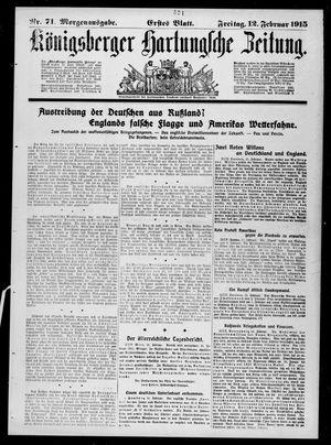 Königsberger Hartungsche Zeitung vom 12.02.1915