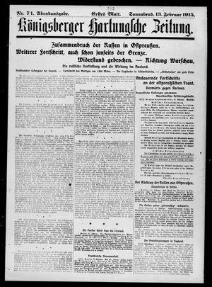 Königsberger Hartungsche Zeitung vom 13.02.1915