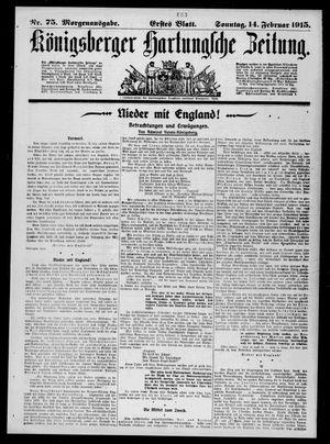 Königsberger Hartungsche Zeitung on Feb 14, 1915