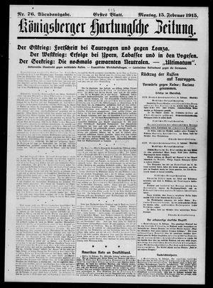 Königsberger Hartungsche Zeitung vom 15.02.1915