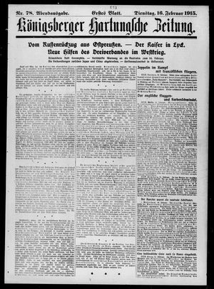 Königsberger Hartungsche Zeitung vom 16.02.1915
