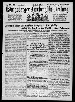 Königsberger Hartungsche Zeitung on Feb 17, 1915