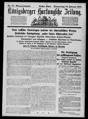 Königsberger Hartungsche Zeitung vom 18.02.1915