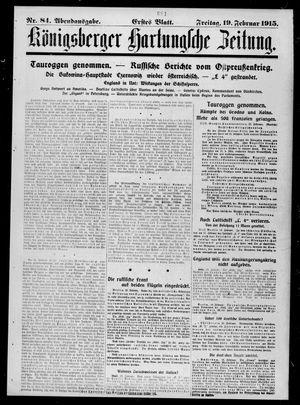Königsberger Hartungsche Zeitung vom 19.02.1915