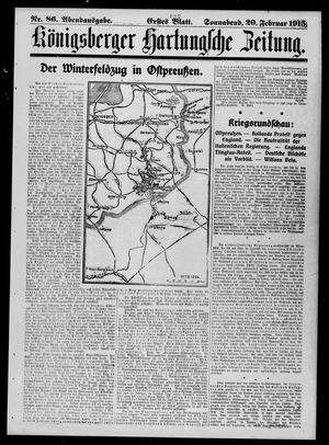 Königsberger Hartungsche Zeitung vom 20.02.1915