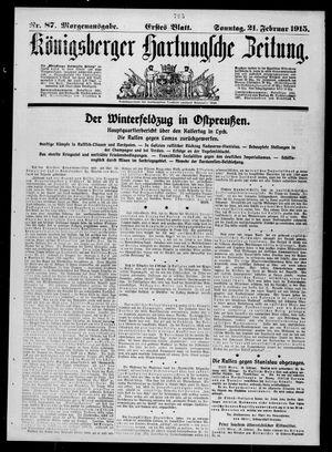 Königsberger Hartungsche Zeitung vom 21.02.1915