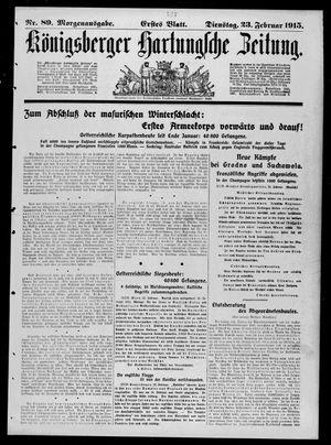 Königsberger Hartungsche Zeitung vom 23.02.1915