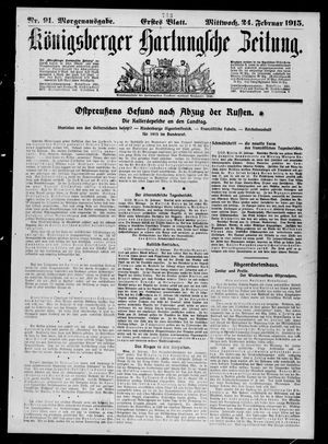 Königsberger Hartungsche Zeitung vom 24.02.1915