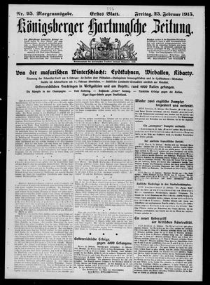 Königsberger Hartungsche Zeitung on Feb 25, 1915