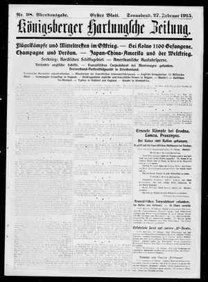 Königsberger Hartungsche Zeitung vom 27.02.1915