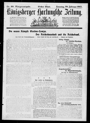 Königsberger Hartungsche Zeitung vom 28.02.1915