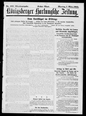 Königsberger Hartungsche Zeitung on Mar 1, 1915