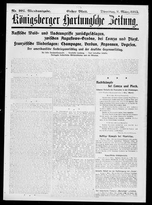 Königsberger Hartungsche Zeitung vom 02.03.1915