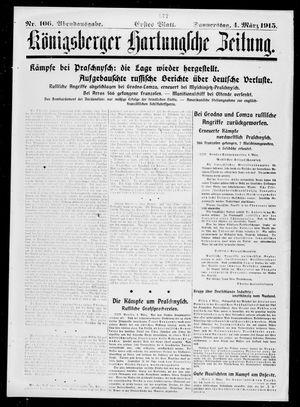 Königsberger Hartungsche Zeitung vom 04.03.1915