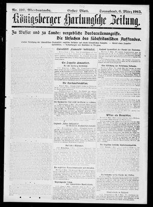 Königsberger Hartungsche Zeitung vom 06.03.1915