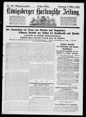 Königsberger Hartungsche Zeitung on Mar 7, 1915