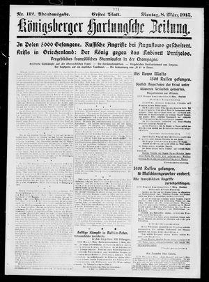 Königsberger Hartungsche Zeitung vom 08.03.1915