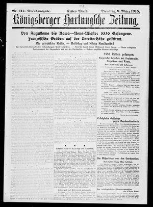 Königsberger Hartungsche Zeitung vom 09.03.1915